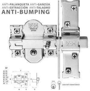 cerrojo anti palanca, anti extraccion