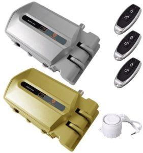 cerraduras invisibles con alarma y 3 mandos