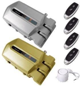 cerraduras invisibles con alarma y 4 mandos